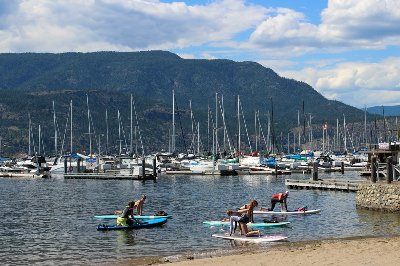Stand Up Paddle Boarding and Yoga on Lake Okanagan , Kelowna