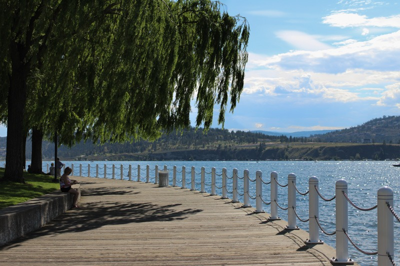 Kelowna Waterfront Park Overlooking Lake Okanagan