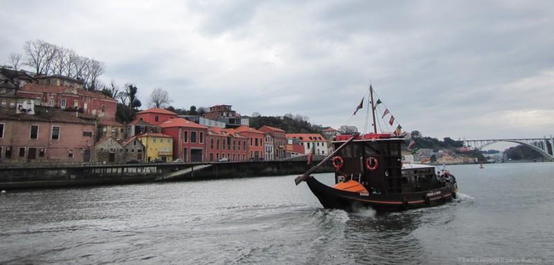Passing a boat on the Douro River Porto