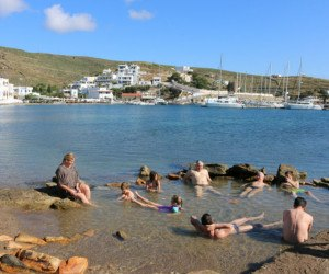The beach at Kythnos by Travel with Bender
