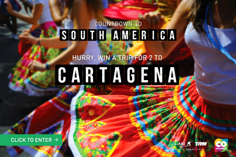 Win a Trip to Cartagena Columbia with LAN Airlines 2
