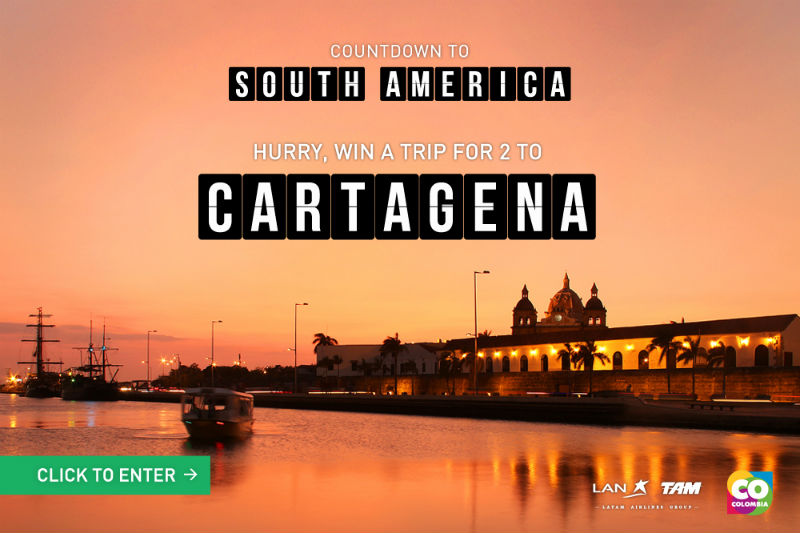 Win a Trip to Cartagena Columbia with LAN Airlines 3