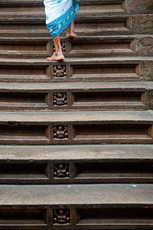 Sri Lanka Esala Perahera temple steps