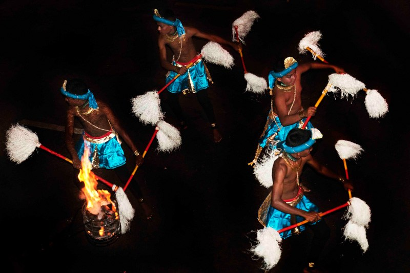 Sri Lanka Esala Perahera dancers