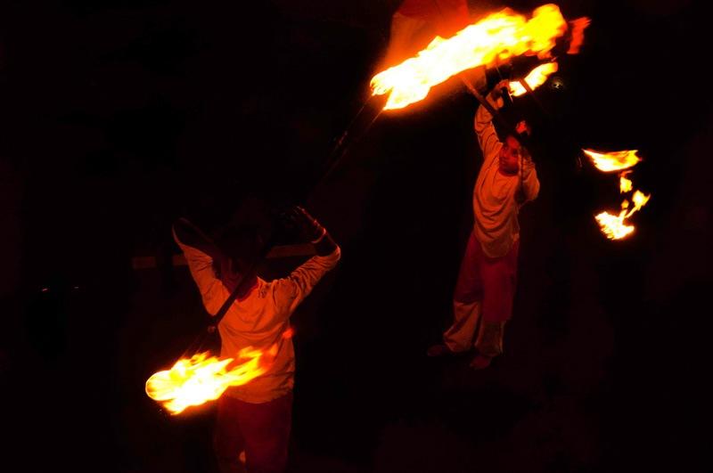Sri Lank Esala Perahera fire performers