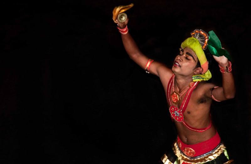 Sri Lank Esala Perahera lone dancer