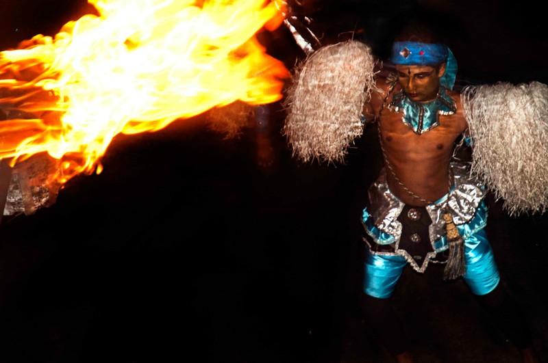 Sri Lanka Esala Perahera fire dancer
