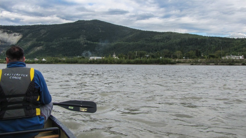 View of Dawson City from the Yukon River