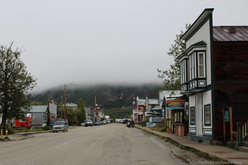 Gazing down Main Street Dawson City Yukon
