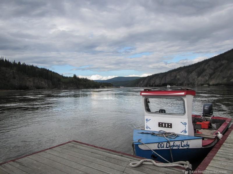 Yukon River with Klondike Spirit and the Dawson Ferry