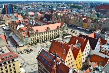 The Panoramic view of Wroclaw