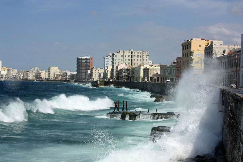 A windy day on the Malecón. Photo by by neiljs.