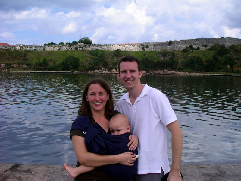 In Old Havana, Cuba back in 2007, when Cole was just a baby.  We may have changed a bit, but Havana hasn't.