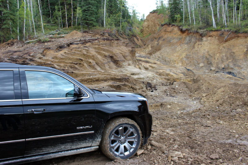 Our Yukon Denali getting a little dirty searching for gold