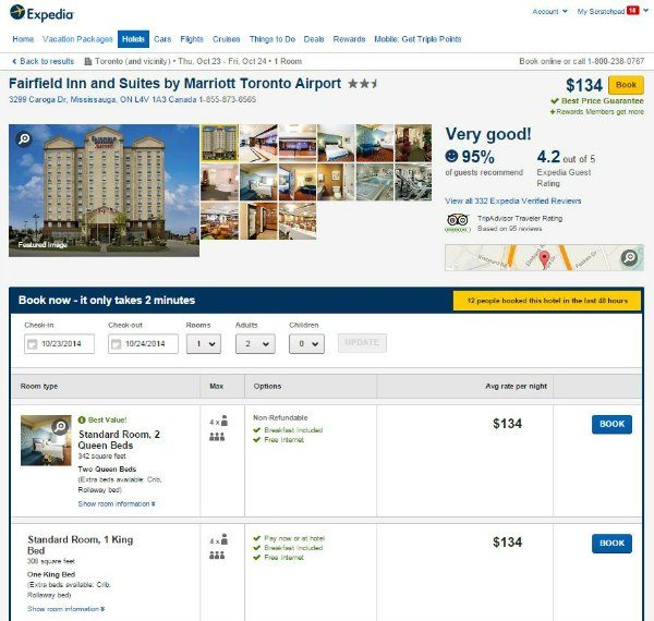 Expedia Travel Pony app comparison Toronto