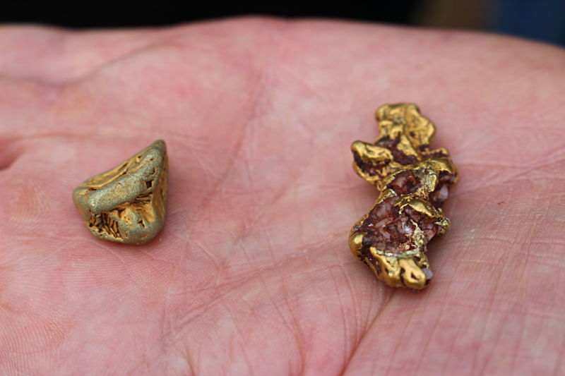 Gold Nuggets from the current strip they mined