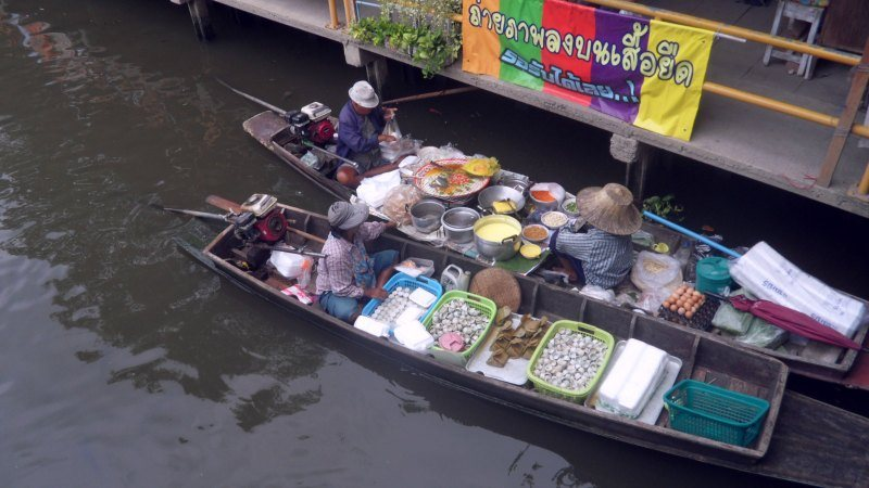 Khlong Lat Mayom Floating Market Food Tour WithLocals