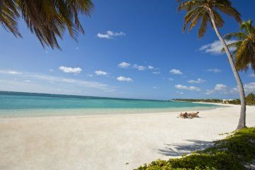 Gorgeous view of white sand and clear water at Punta Cana