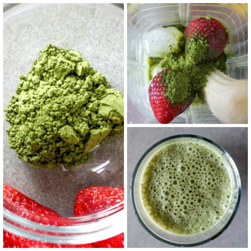 Silk Cream Cashew Green Tea Matcha Berry Smoothie