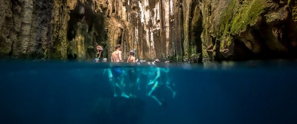 Underwater caves at Sawa-i-Lau in Fiji by Catherine and Simon Gidzinski on Flickr