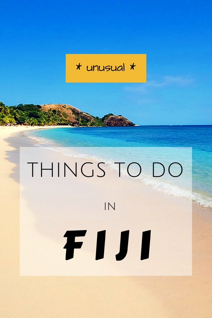 Unusual things to do in Fiji