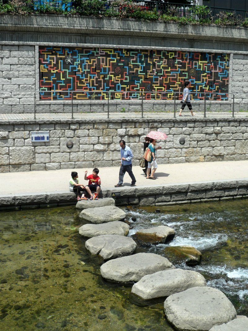 Cheonggyecheon Stream Seoul Korea