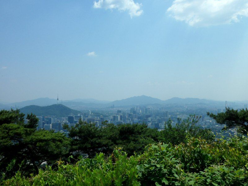 View from Bukhaksan Seoul Koreav