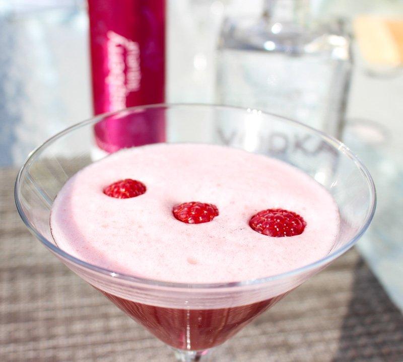 Okanagan Martini made from Okanagan Spirits Craft Distillery Raspberry Liqueur