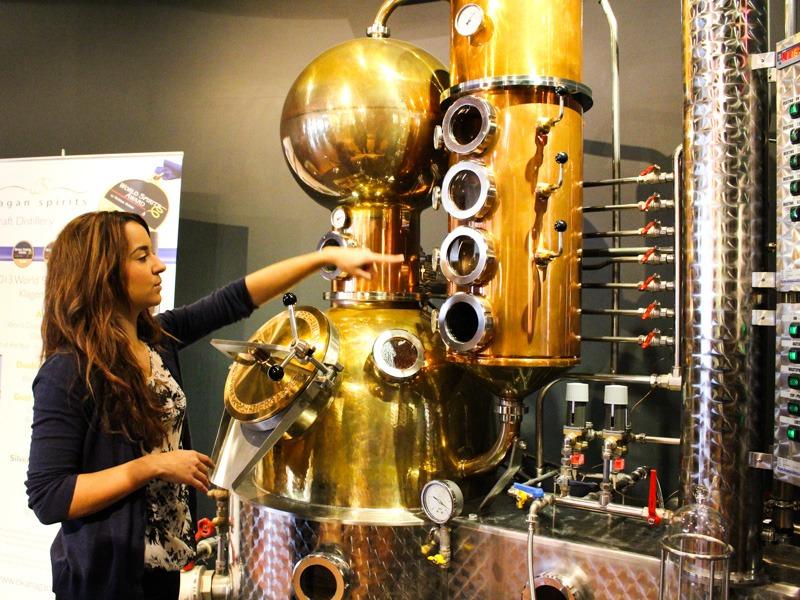 Okanagan Spirits Craft Distillery Distillation Apparatus