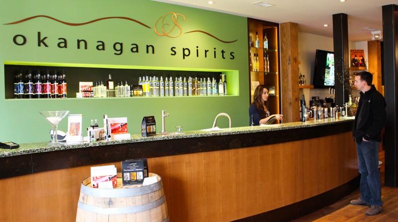 Okanagan Spirits Craft Distillery front Counter