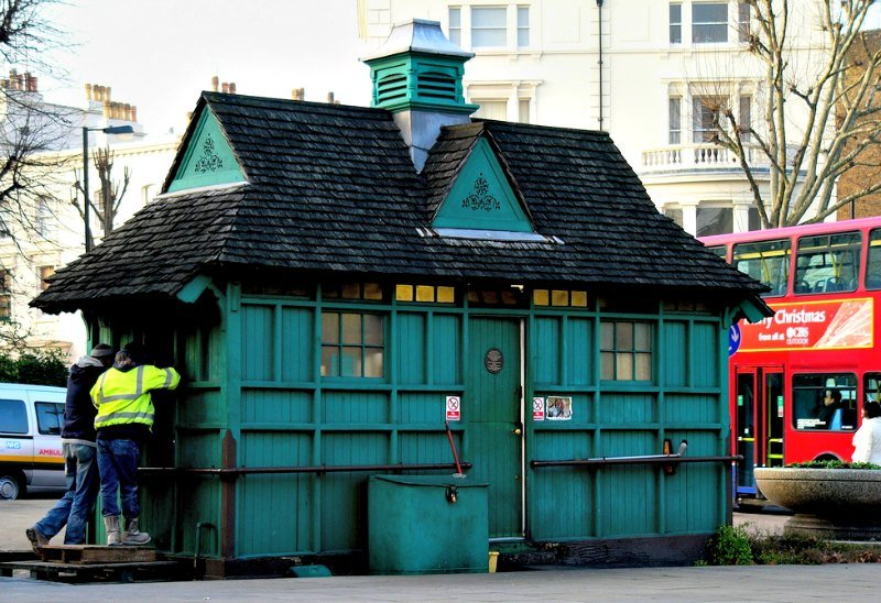 Cabman Shelter London by Kathleen Tyler Conklin