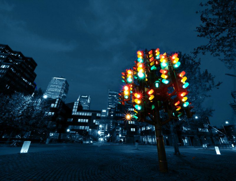 The Traffic Light Tree London by William Warby