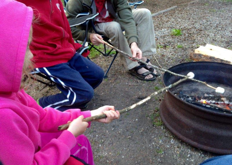 Roasting Marshmallows Sicamous KOA