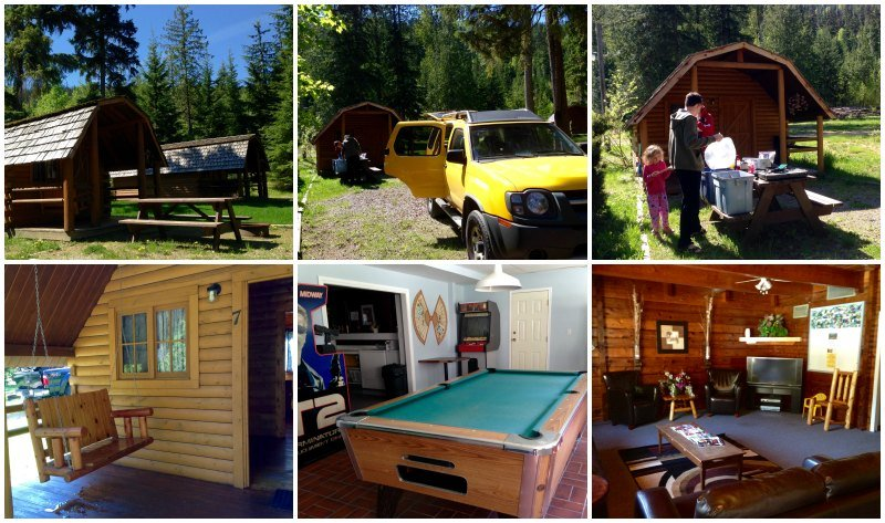 Sicamous KOA cabins and amenities