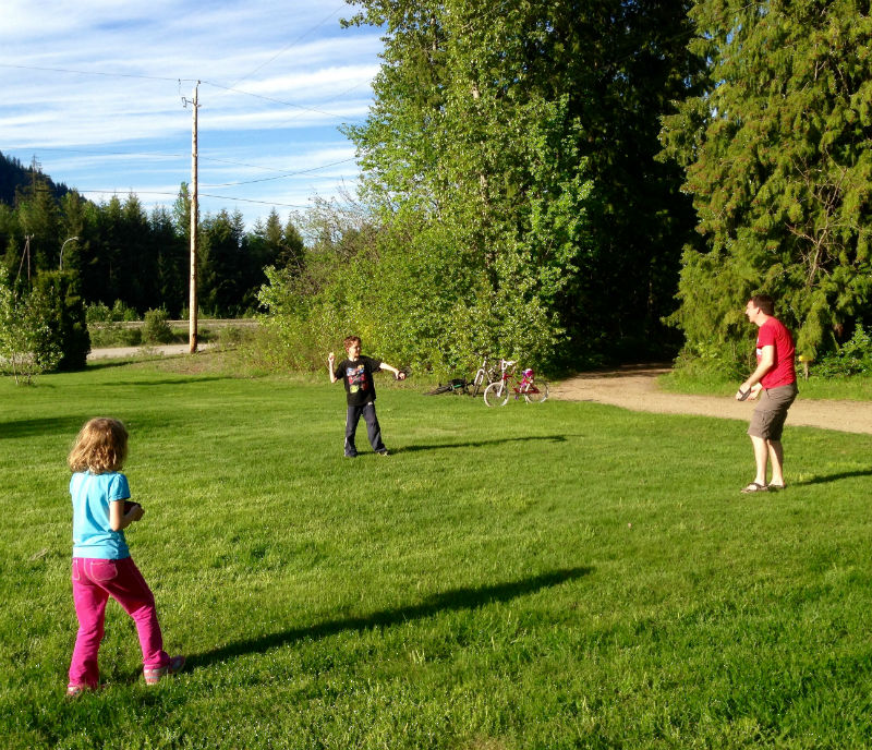 Sicamous KOA playing in the park