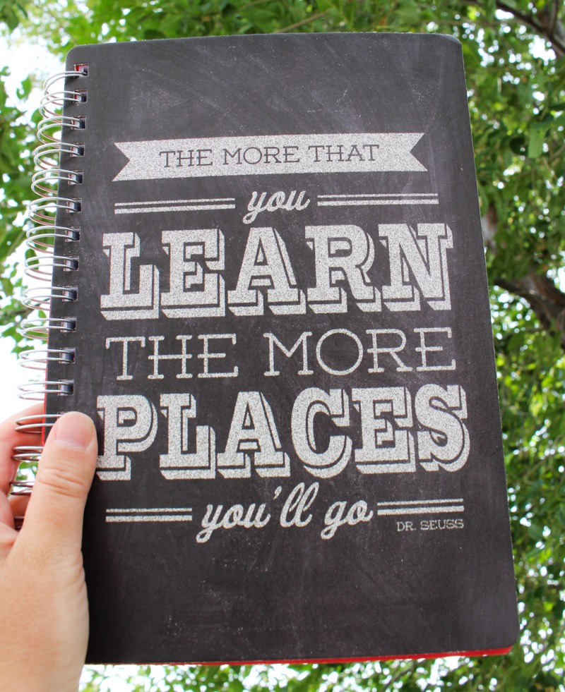 The more that you learn, the more places you'll go