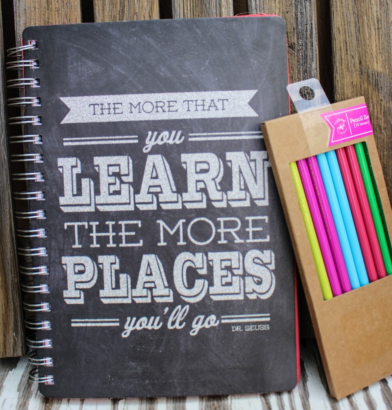 Marshalls back to school shopping notebook and pencils