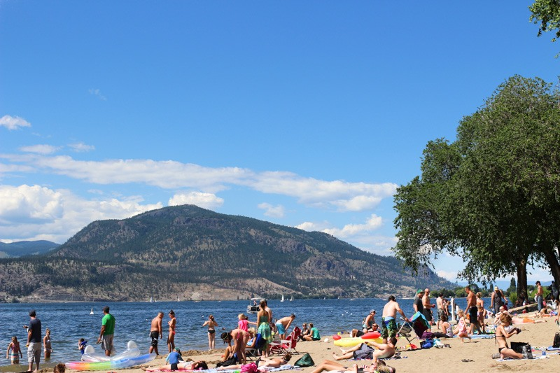 Kelowna City Park Hot Sands Beach