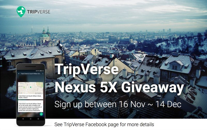 TripVerse Nexus 5x Giveaway Prague
