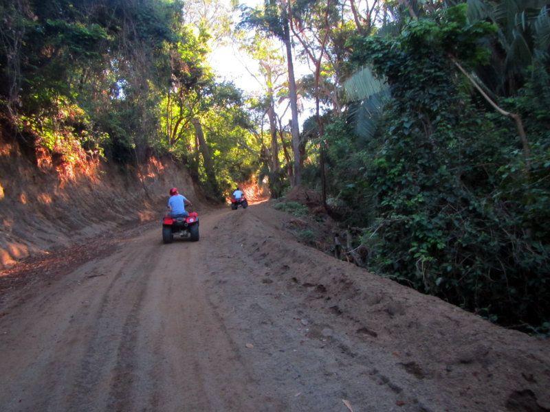 Going up a mountain on an ATV in Manzanillo, Mexico