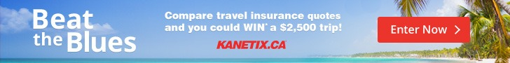 Enter to win a $2,500 travel voucher from KANETIX.ca