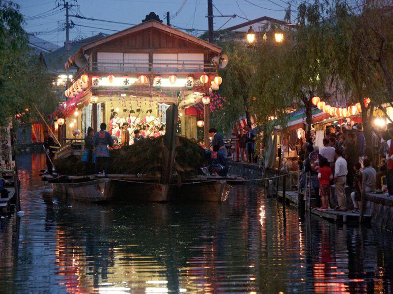 Festival barge in Yanagawa Japan
