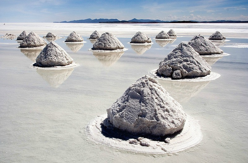 Salt pyramids by Francisco Orts
