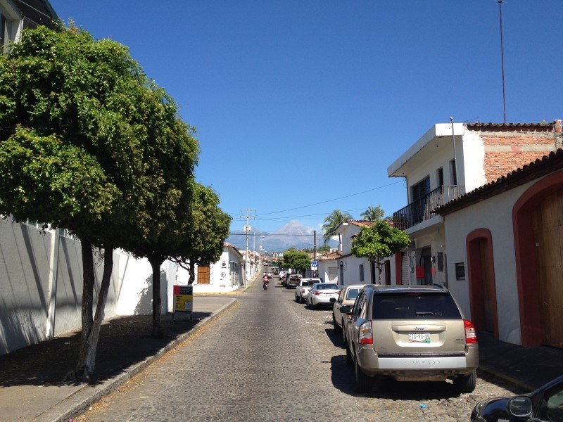 White walled buildings of Comala