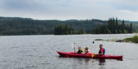 Kayaking on Oyama Lake in our Necky Manitou II