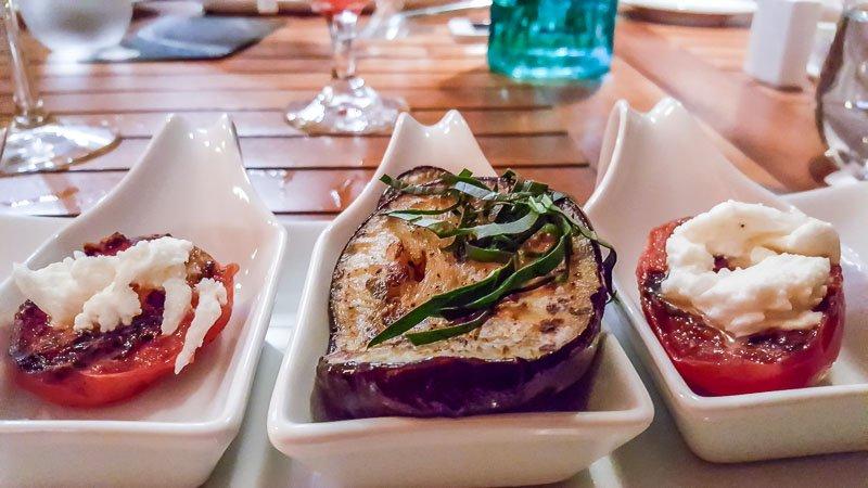 Vegetarian tapas at Marival Residences