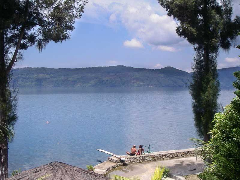 Samosir Island on Lake Toba in Sumatra