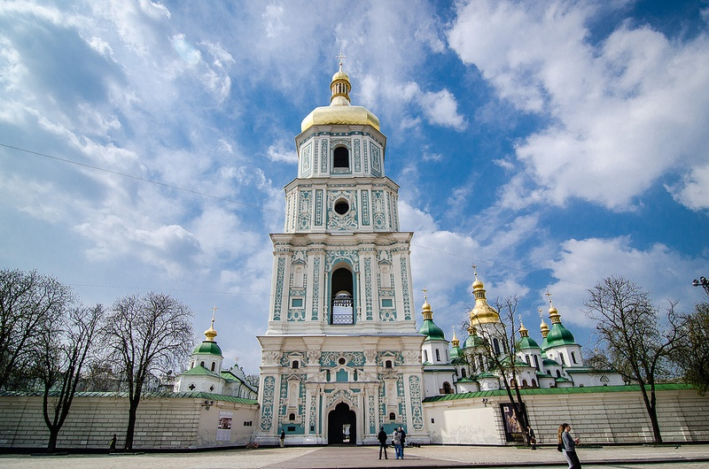 10 must visit places in Ukraine Sofiiska Square Bell Tower in Kiev Ukraine