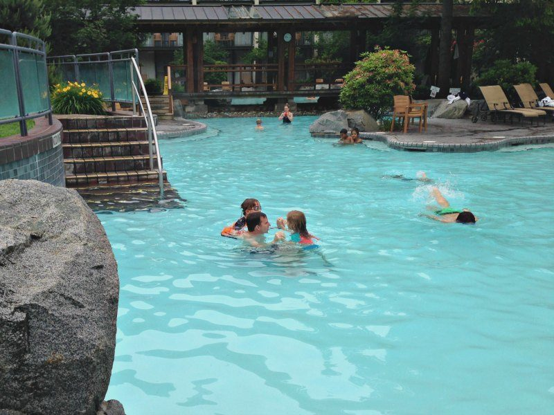 Fun in the family pool at Harrison Hot Springs