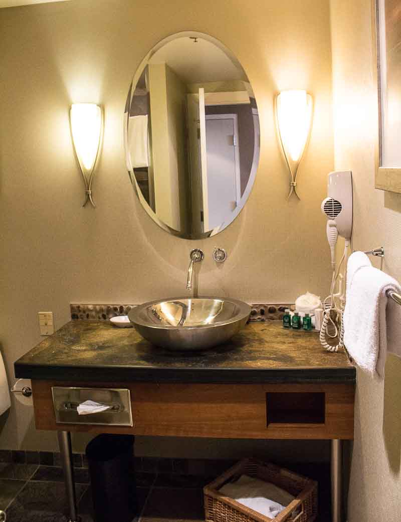 Posh comfy bathrooms at Harrison Hot Springs Resort and Spa